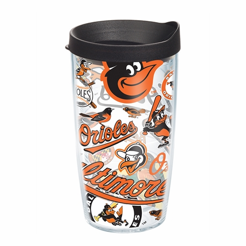 Baltimore Orioles All Over Wrap Set of Cups with Lids by Tervis