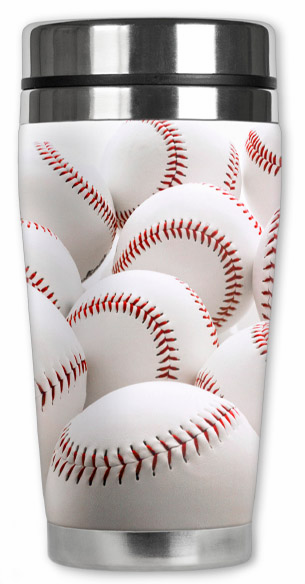 Baseball 16oz Travel Mugs<br>5 Baseball Designs!
