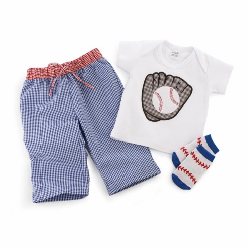 Baseball 3pc Baby Outfit<br>0-6mo