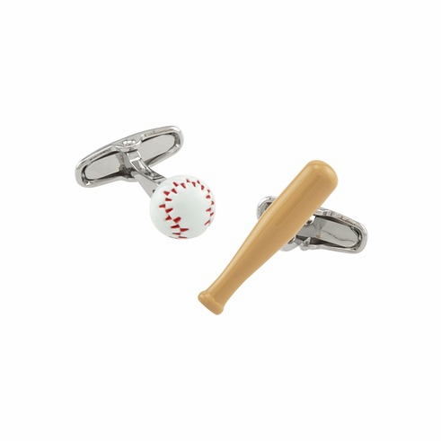 Baseball and Bat Cufflinks