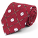 Baseball and Bats Red Polyester Tie