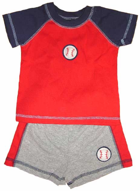 Baseball Applique<br>Short Set<br>by cloud-mine