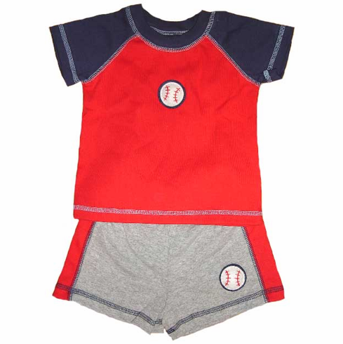 Baseball Applique Short Set by cloud-mine