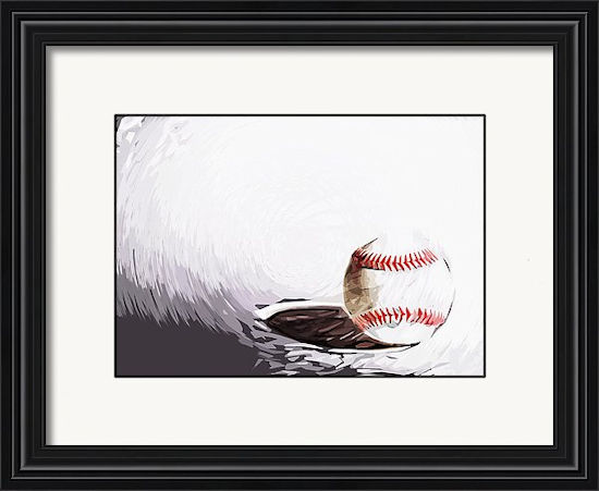 Baseball Art Framed Print<br>4 SIZES AVAILABLE!