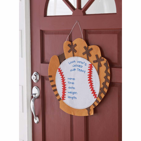 Baseball Baby Door Hanger