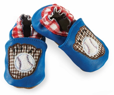 Baseball Baby Shoes<br>0-6mo or 6-12mo