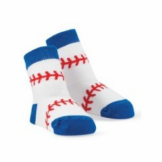Baseball Stitch Baby Socks 0-12mo