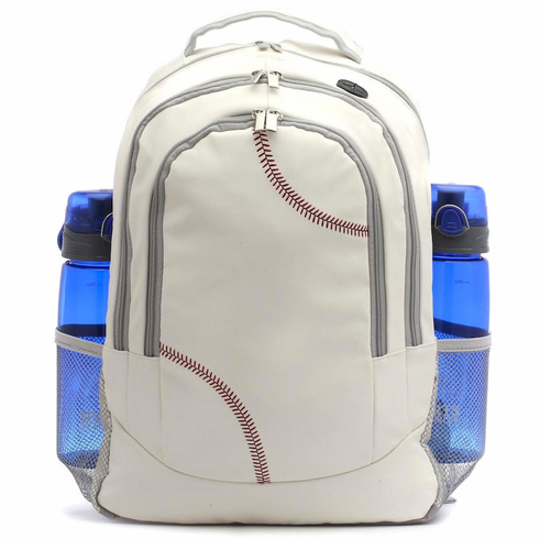 White Baseball Backpack<br>LESS THAN 6 LEFT!