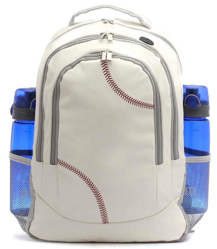 White Baseball Backpack