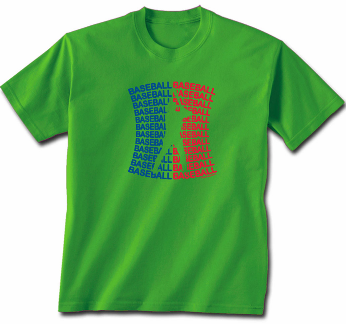 Baseball Baseball Green T-Shirt