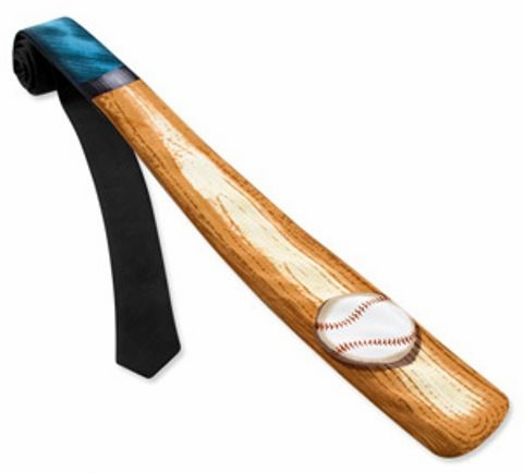 Baseball Bat Shaped Polyester Tie