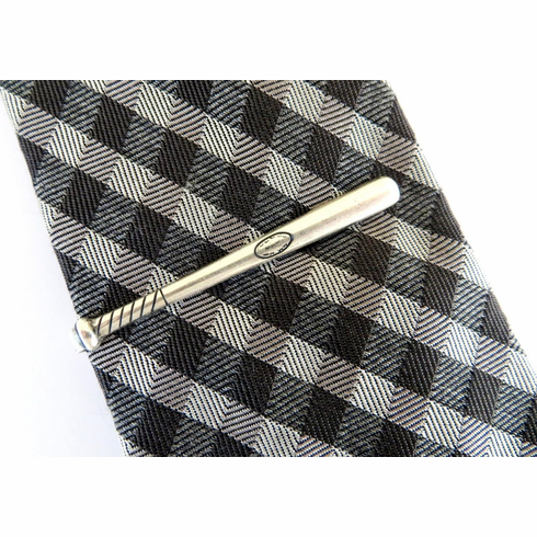 Baseball Bat Tie Clip<br>Silver or Gold