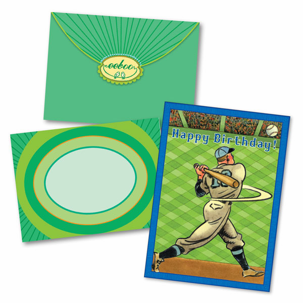 Baseball Batter Happy Birthday Card