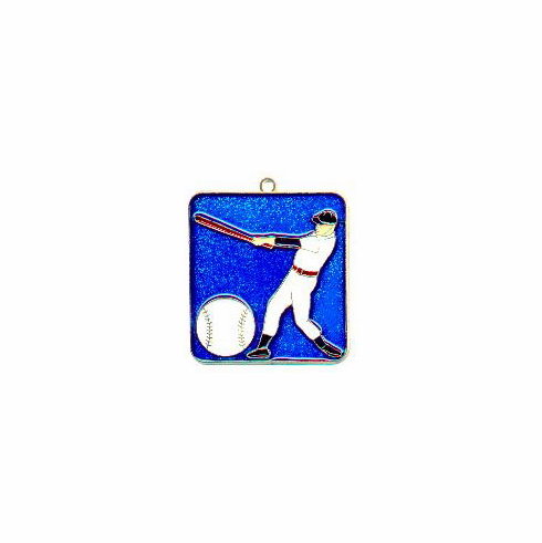 Baseball Batter Square Sun Catcher