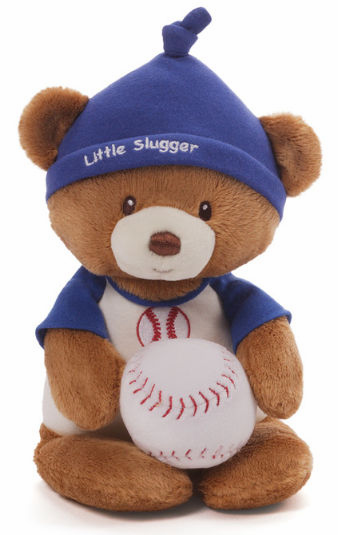 Baseball Bear and Rattle by Baby Gund<br>ONLY 1 LEFT!