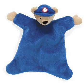 Baseball Bear Mini Cozy Baby Blanket