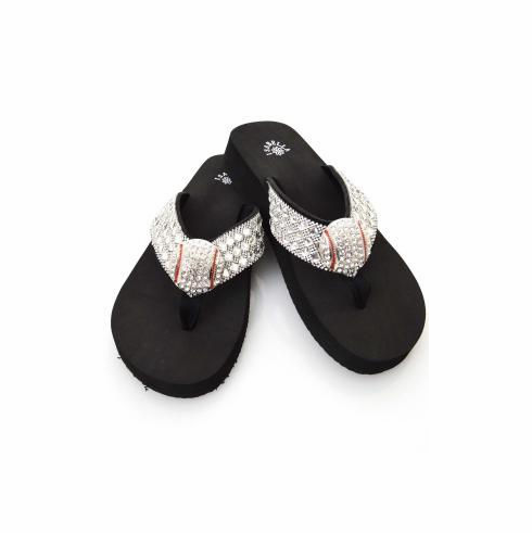 Baseball Bling Flip-Flop Sandals<br>SIZE 7