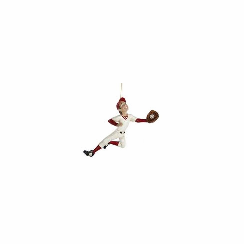 Baseball Boy Fielding Resin Ornament