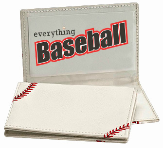White Baseball Business Card Holder