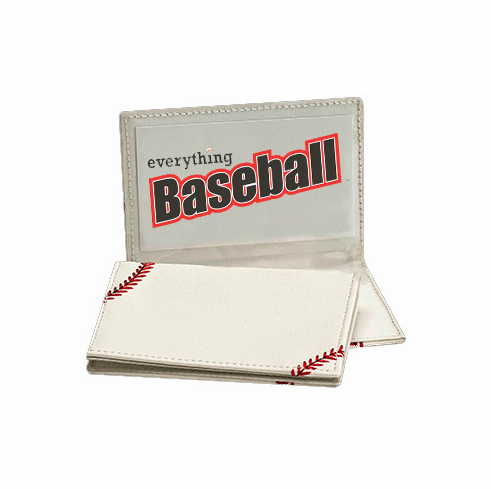 White Baseball Business Card Holder<br>SOLD OUT!