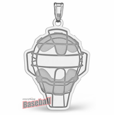 Baseball Catcher / Umpire Mask Pendant<br>GOLD or SILVER