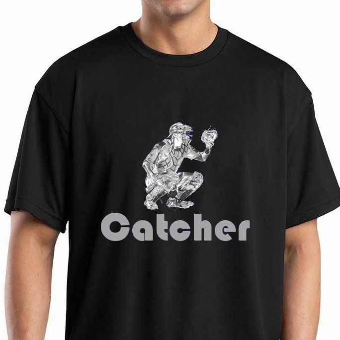 Baseball Catcher T-Shirt<br>Choose Your Colors<br>Youth Med to Adult 4X