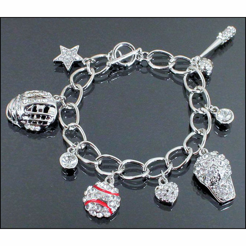 Baseball Charm Toggle Link Bracelet<br>ONLY 3 LEFT!