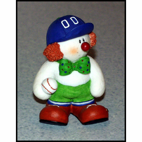 Baseball Clown Figurine
