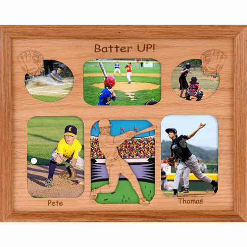 Baseball Collage Personalized 11x14 Photo Frame