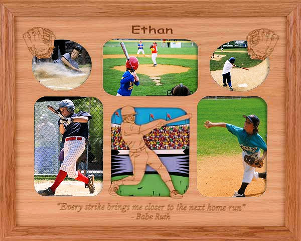 Baseball Collage with Quote Personalized 11x14 Photo Frame