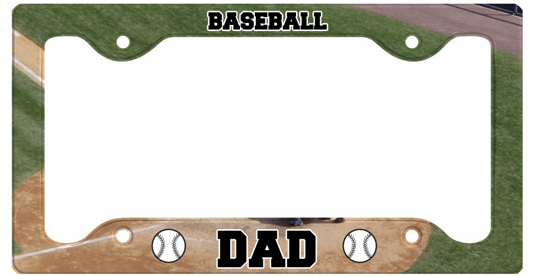 Baseball Dad License Plate Holder
