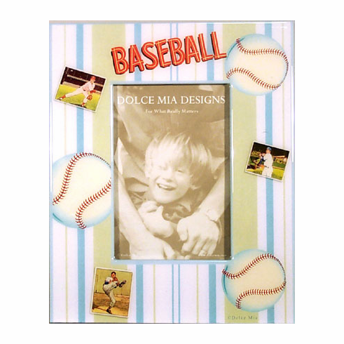Baseball Decoupage 4x6 Picture Frame