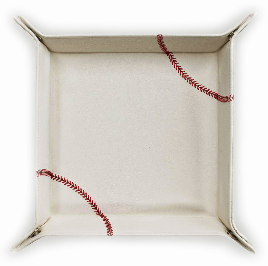 White Baseball Desk Caddy