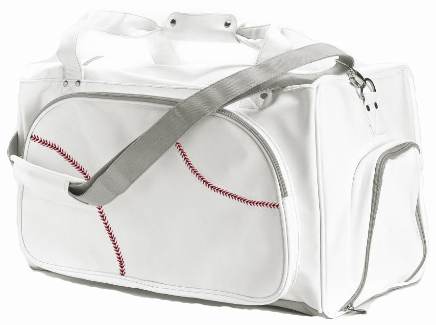 White Baseball Duffel Bag