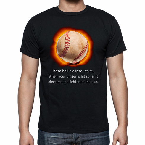 Baseball Eclipse Black T-Shirt<br>Youth Med to Adult 4X