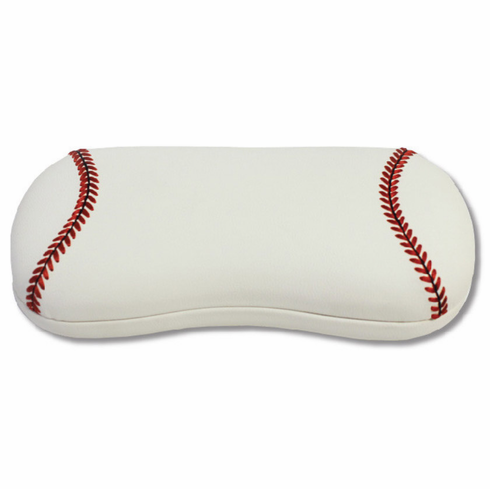 White Baseball Eyeglass Case