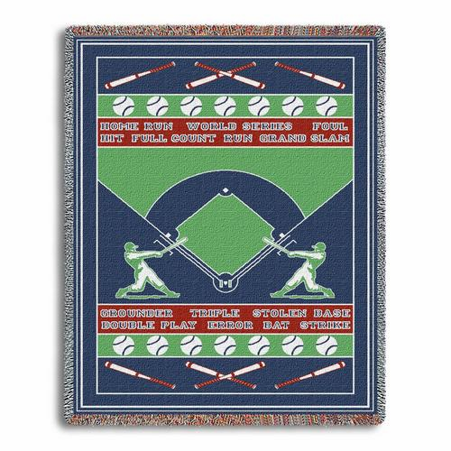 Baseball Field Tapestry Throw