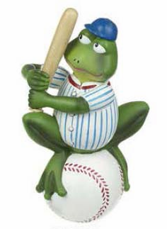 Baseball Frog Batting Figurine