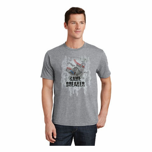 Baseball Game Breaker Gray T-Shirt<br>Youth Med to Adult 4X