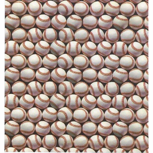 """Baseball Gift Wrapping Paper 30"""" x 12' Roll<br>ONLY 2 ROLLS LEFT!"""