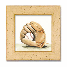 Baseball Glove Framed Artwork<br>ONLY 5 LEFT!