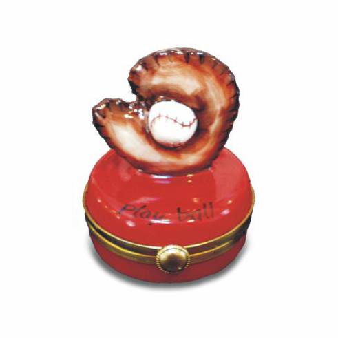 Baseball Glove Limoges Box<br>ONLY 1 LEFT!