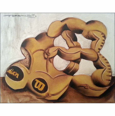 WEEKLY SPECIAL #20<br>Baseball Glove Original Baseball Painting by Tommervik