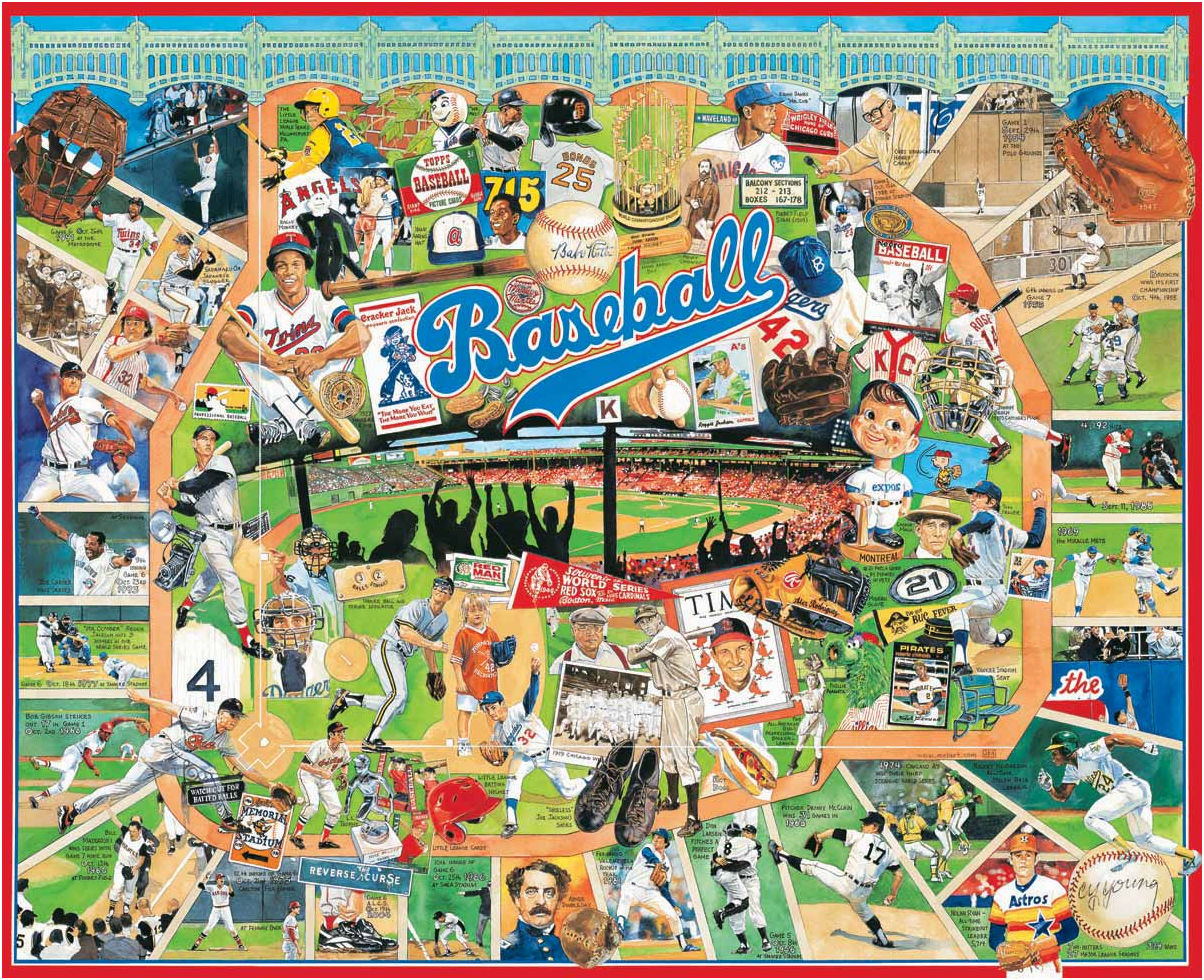 Baseball Greats 1000pc Puzzle<br>ONLY 1 LEFT!