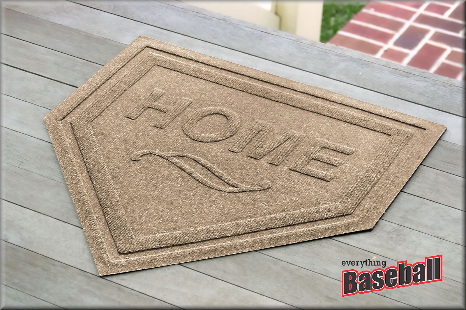 Baseball Home Plate Shaped Welcome Mat<br>CHOOSE FROM 19 COLORS!