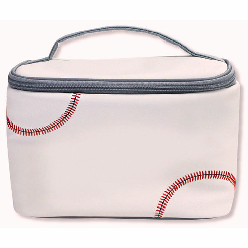 White Baseball Insulated Lunch Box<br>ONLY 3 LEFT!