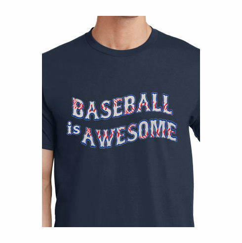 Baseball is Awesome T-Shirt<br>Choose Your Color<br>Youth Med to Adult 4X