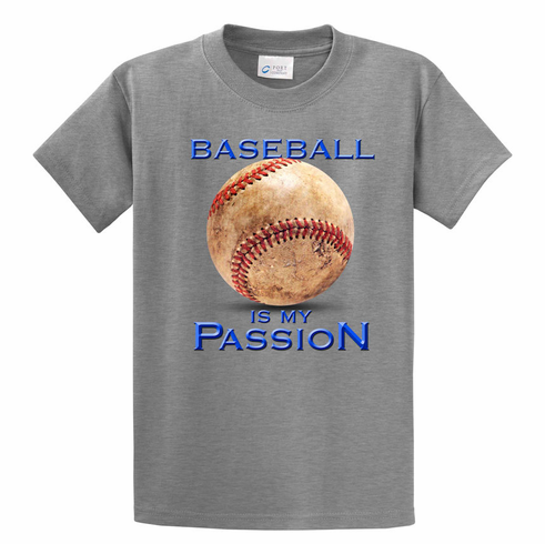 Baseball Is My Passion T-Shirt<br>Choose Your Color<br>Youth Med to Adult 4X