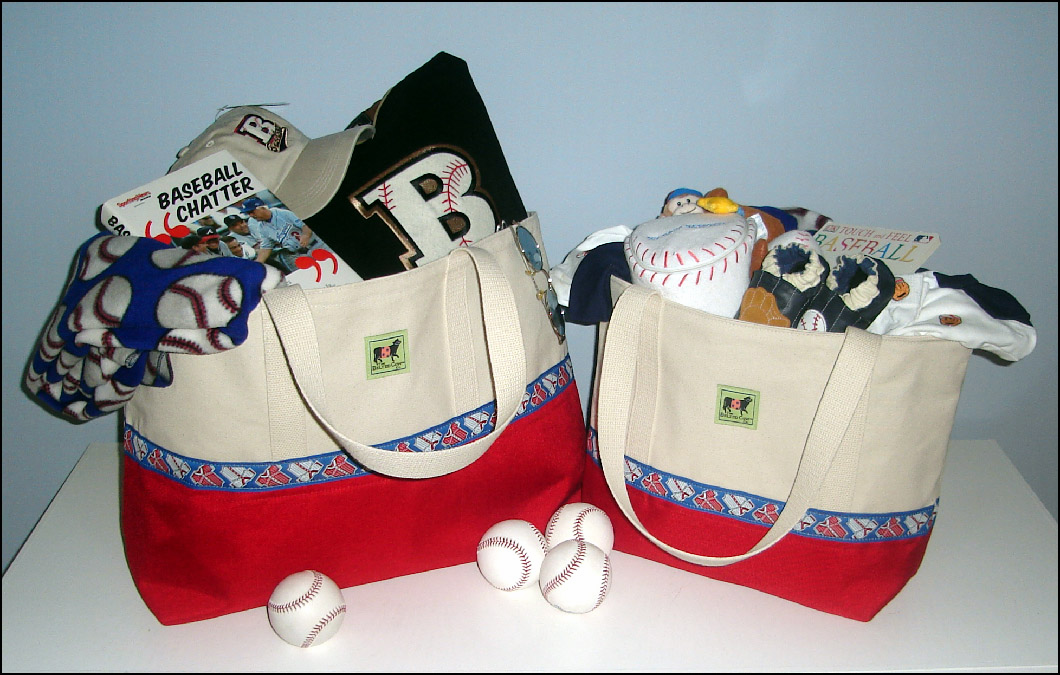 Baseball Jersey Tote Bags<br>ONLY 4 LEFT!