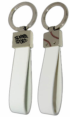 White Baseball Key Chain
